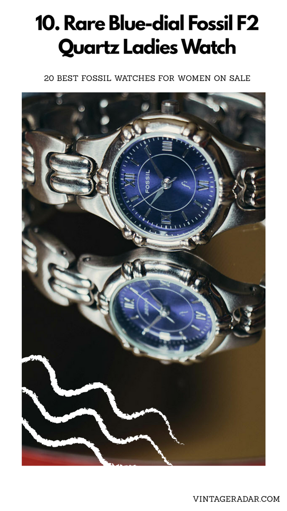 Silver-tone Blue Dial Fossil Watch