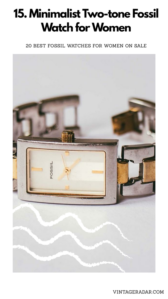 Square-dial Fossil Watch