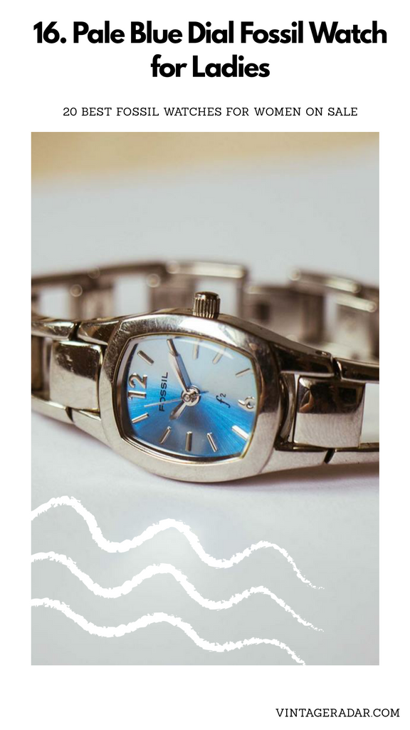 Blue Dial Silver-tone Fossil Watch