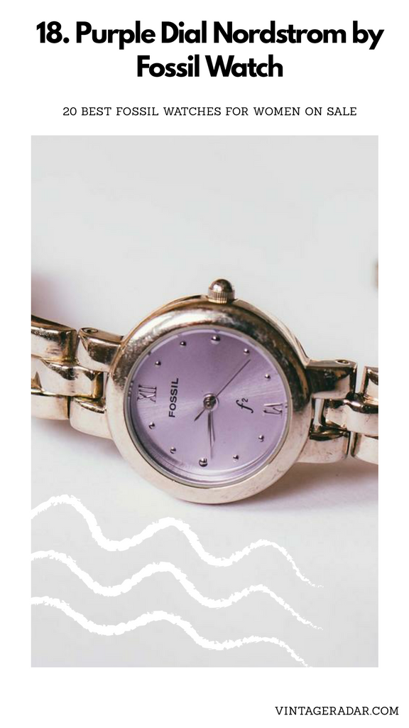 Purple Dial Fossil Ladies Watch