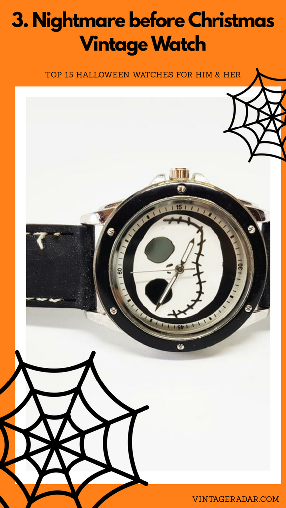 Disney Nightmare Before Christmas Watch for Men | Jack Skellington