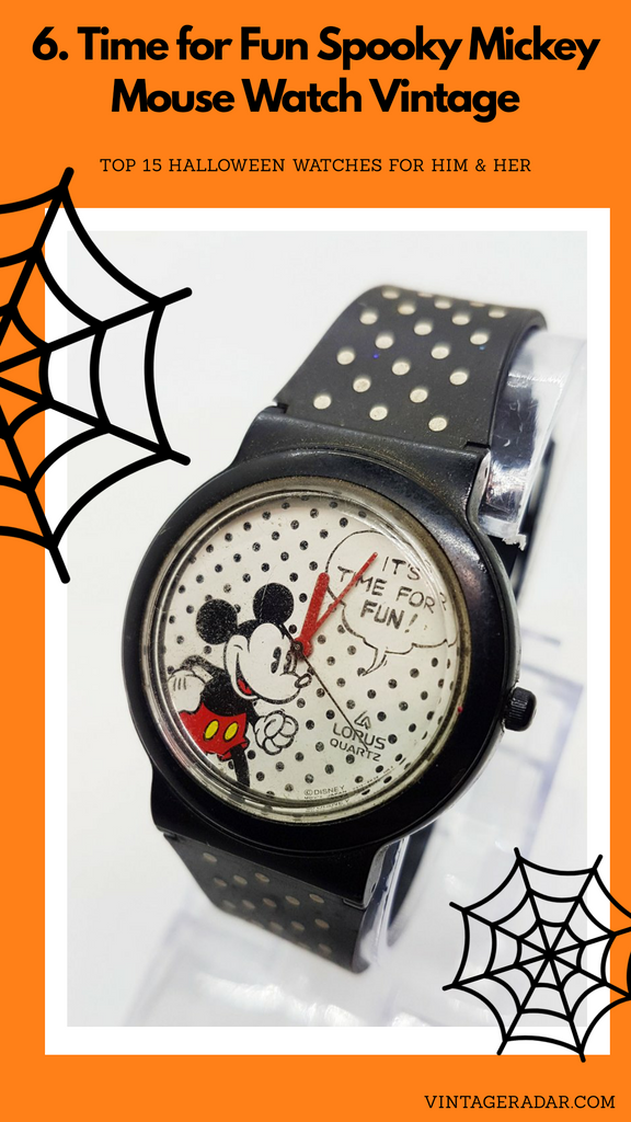 حان الوقت لمشاهدة Fun Lorus Mickey Mouse V515-6610 Watch Rare Disney Watch