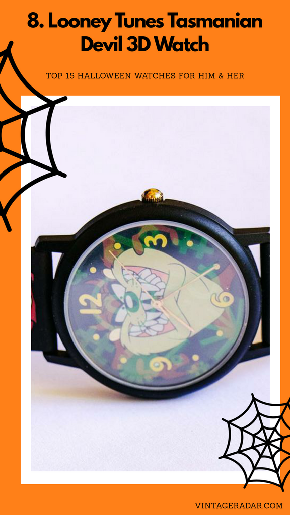 Looney Tunes Tasmanian Devil 3D Watch | Vintage Looney Tunes Watches