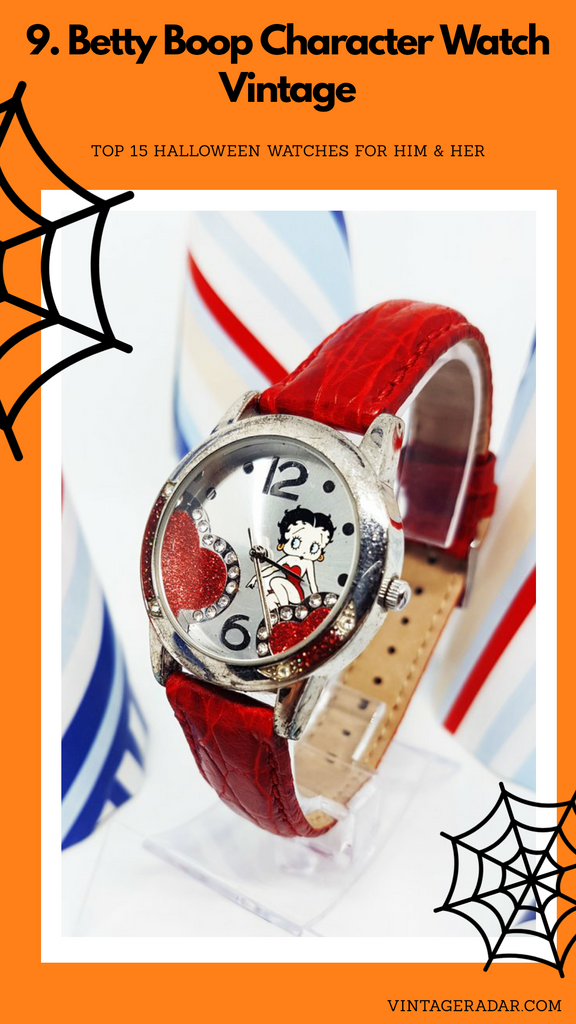 Betty Boop Character Watch | Red Vintage Gift Watch For Women