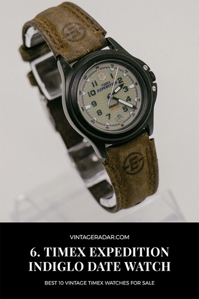 Reloj Timex Expedition Indiglo 50M Vintage