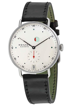 Nomos Metro Galvanized White Dial Mens Watch 1101