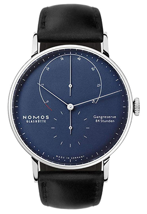 Nomos Glashutte White Gold Lambda Power Reserve 42mm Mens Watch