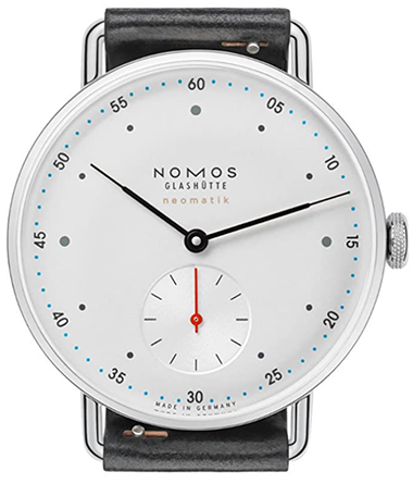 Nomos Metro Neomatik White Silver-Plate Dial Men's Watch 1106