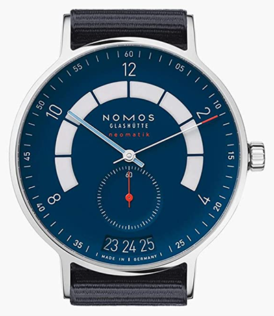 Nomos Glashuette Men's Autobahn 41mm Blue Cloth Band Steel Case Automatic Analog Watch 1302