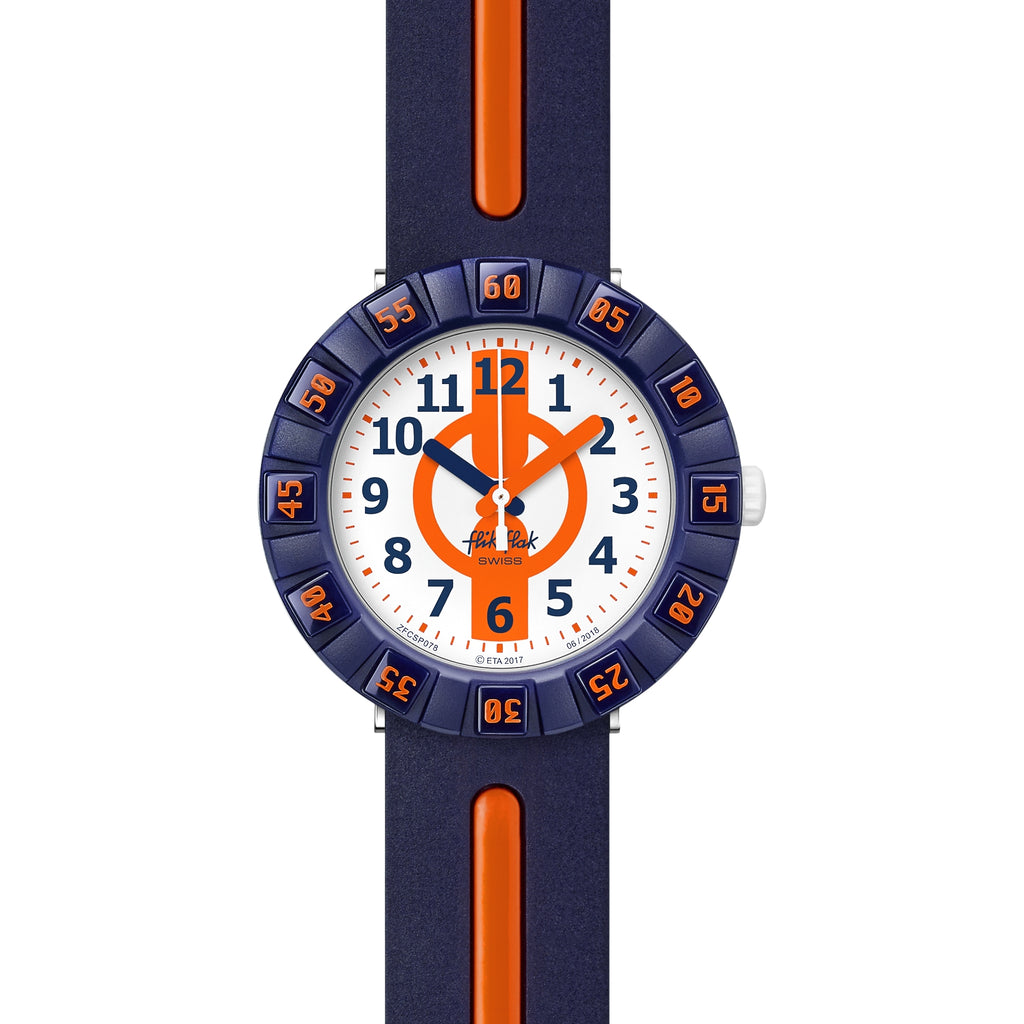 Flik Flak Orange Ahead Watch FCSP078