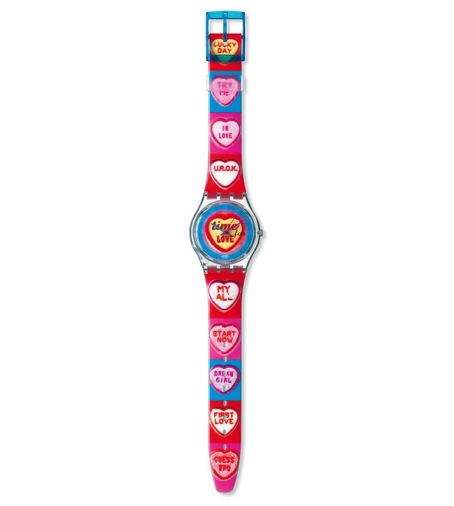 reloj swatch vintage time for love gk293