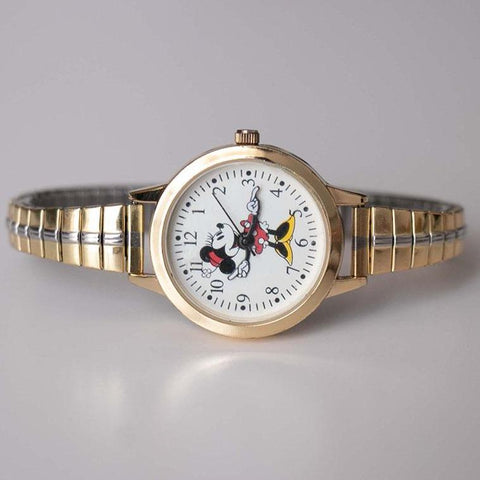 Gold-tone Vintage Minnie Mouse Watch for Women AccuTime Watch Corp