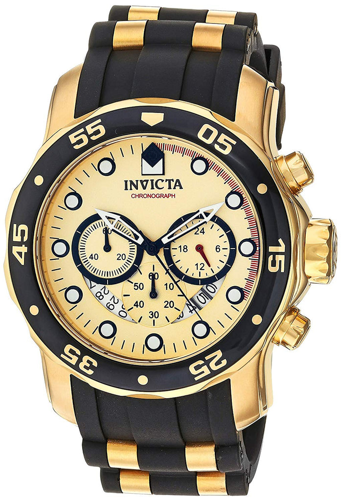Envicta Men's 17884 Pro Diver 18k Gold Ion-Plated Stainless Steel Chronograph Watch