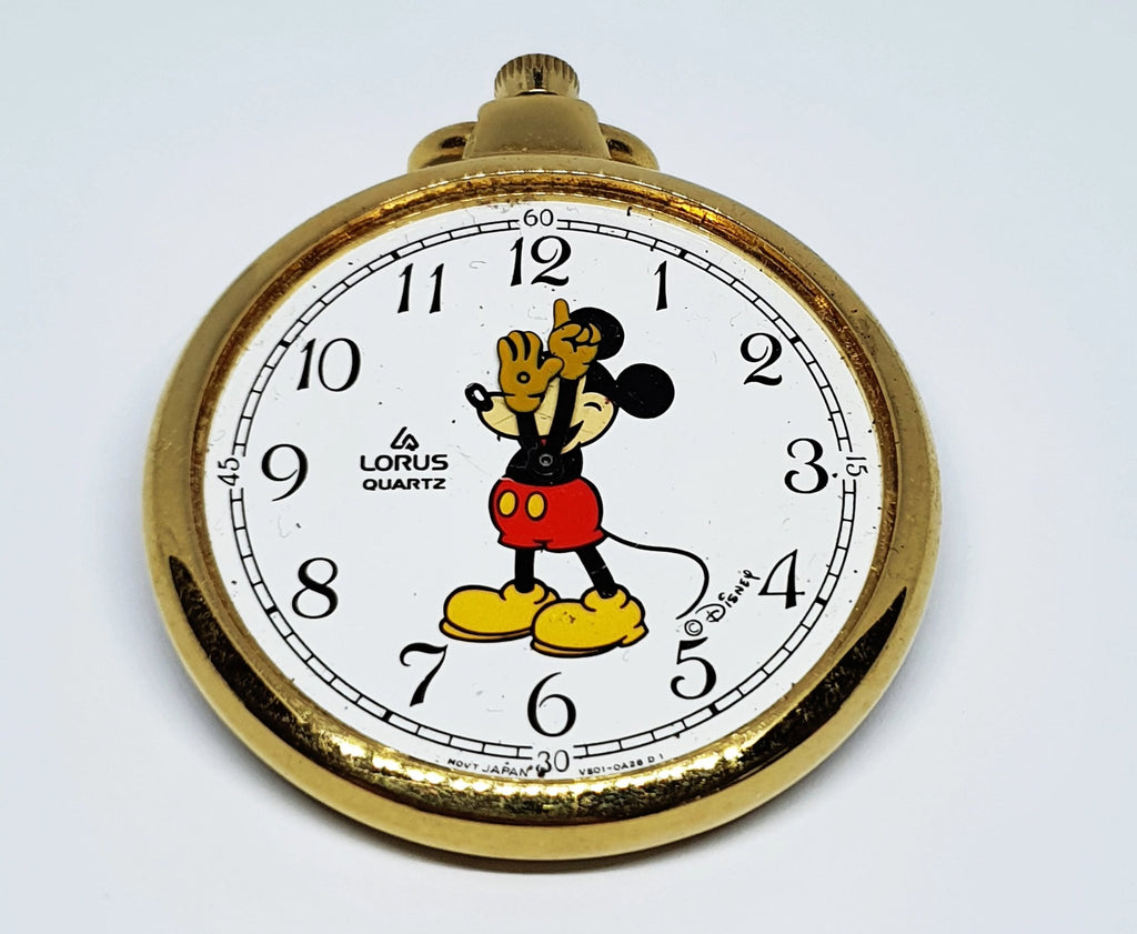 Lorus Disney V501-0A28D1 Mickey Mouse Disney Pocket Watch