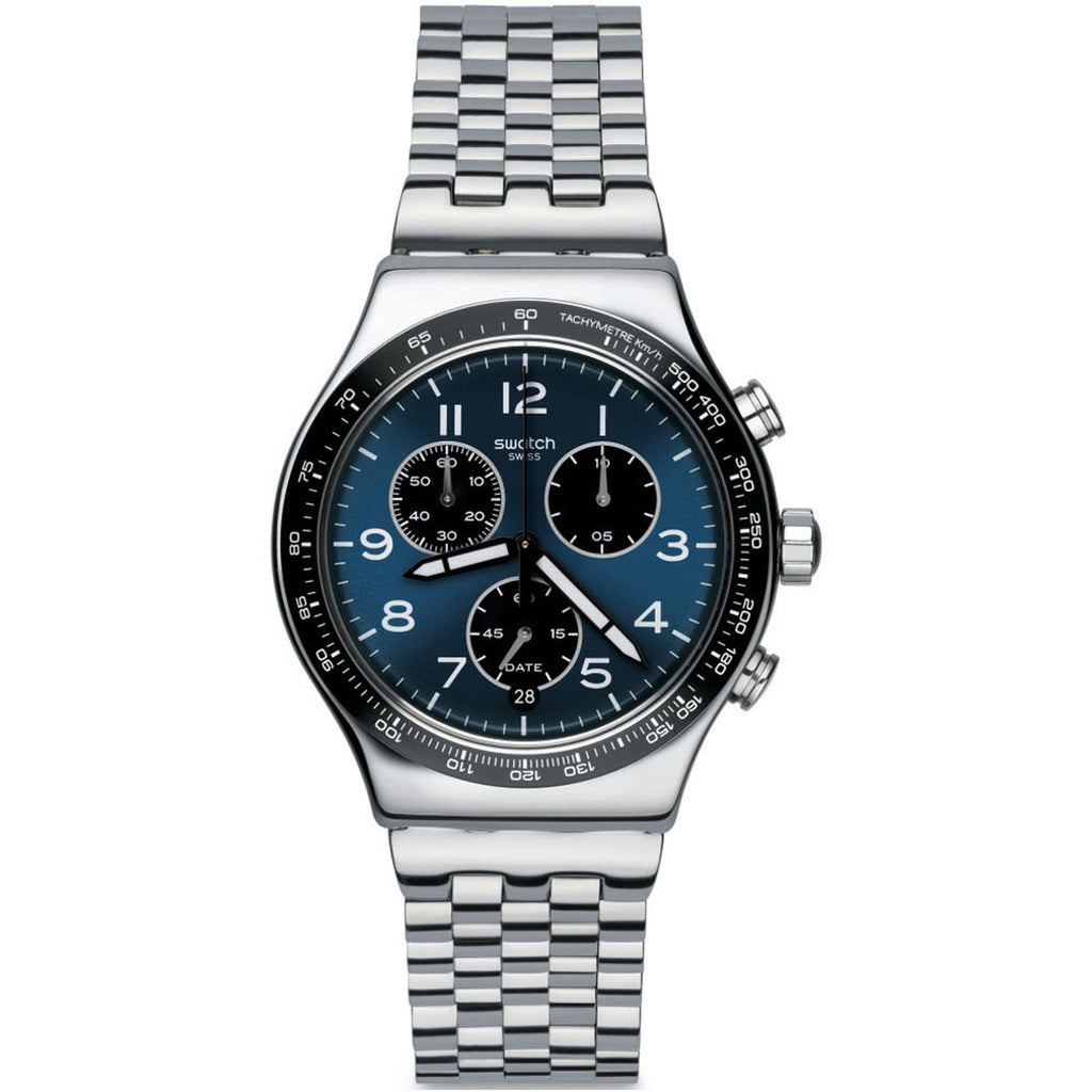 Swatch Irony Quartz Movement Blue Dial Men's Watch YVS423G | VintageRadar.com