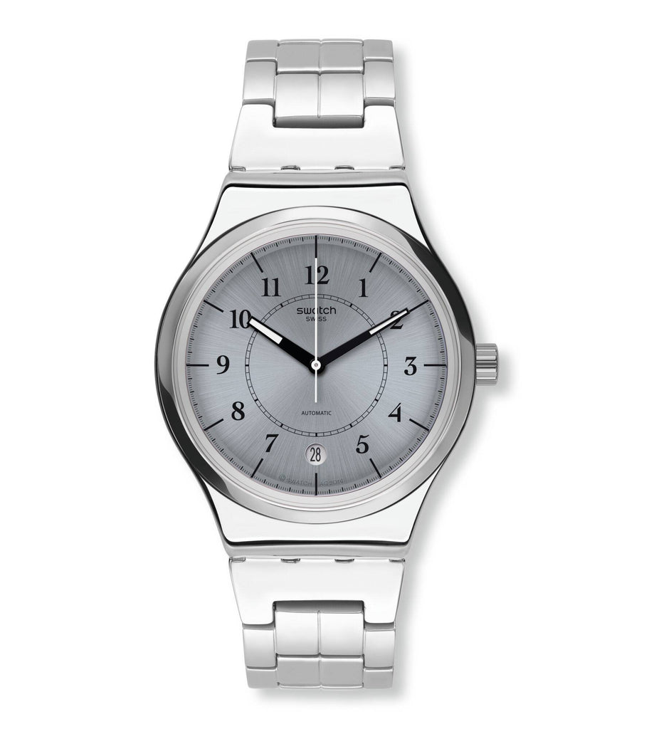 Swatch Irony Sistem Check Grey Dial Stainless Steel Unisex Watch YIS412G | VintageRadar.com