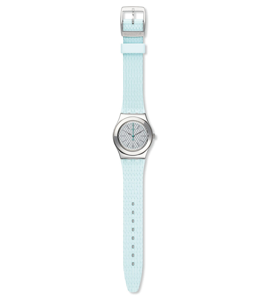 3.Swatch Irony Quartz Movement Silver Dial Unisex Watch YLS193