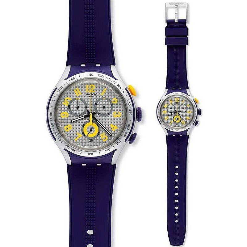 Watch Swatch Irony XLITE Chrono YYS4014 YELLOW PUSHER | VintageRadar.com
