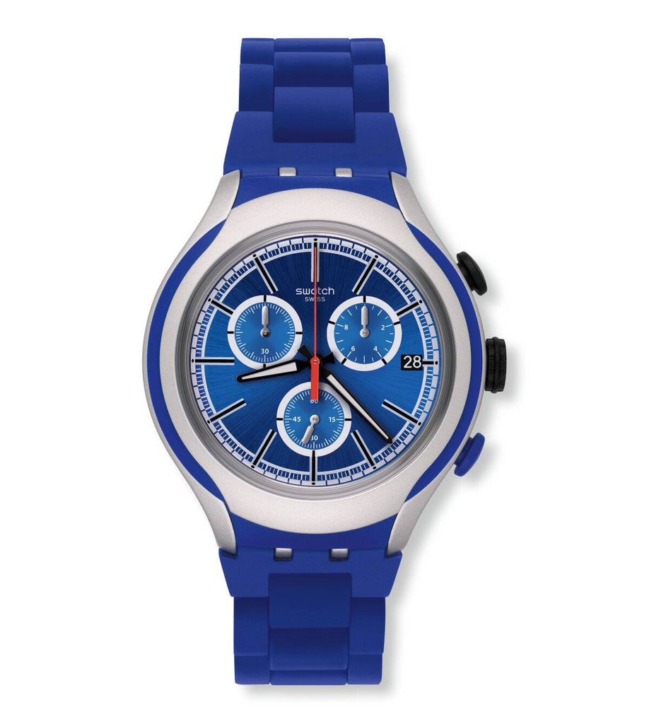 Swatch YYS4017AG Irony Xlite Blue Attack Men's Watch
