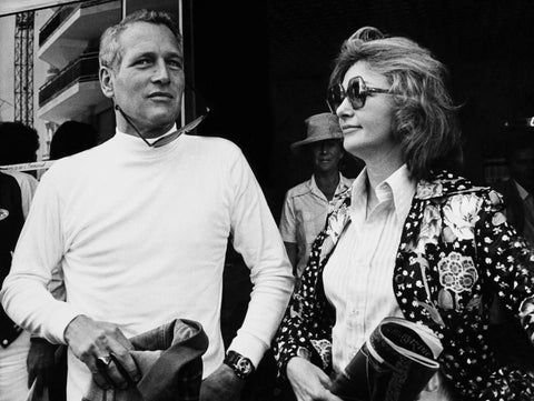 Paul Newman (wearing his Rolex) and Joanne Woodward at the 1973 Cannes Film Festival. FRANCE/GAMMA-KEYSTONE VIA GETTY IMAGES