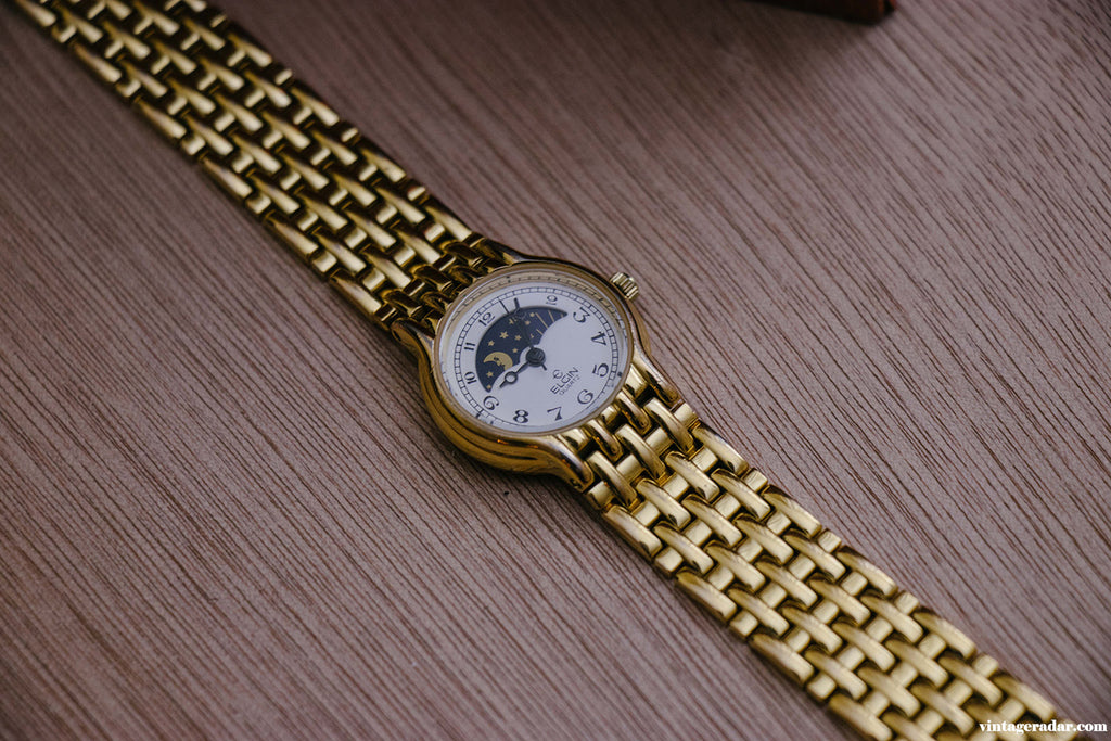 Elgin Moon Phase Quartz Watch