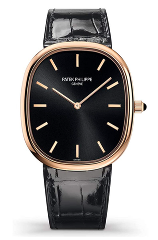 百达翡丽PHILIPPE 5738R-001 Golden Ellipse Automatic Black Dial Watch