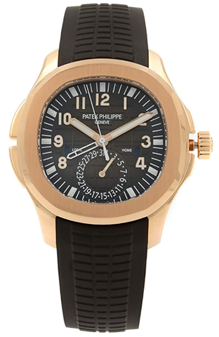 百达翡丽Aquanaut Automatic Mens 18k Rose Gold Watch 5164R
