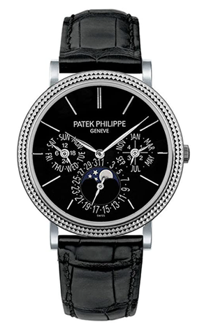 百达翡丽Grand Complication Automatic 18 kt White Gold Mens Watch 5139G-010