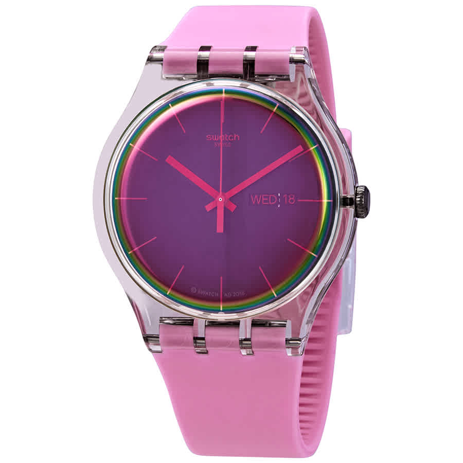 Swatch Womens Analogue Quartz Watch with Silicone Strap SUOK710 | Vintage Radar