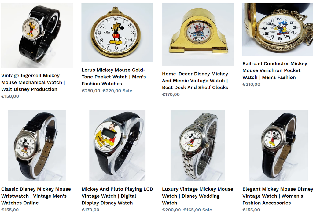 Mickey Mouse watch collection