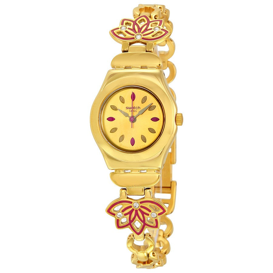 Swatch Women's Irony YSG140G Gold Stainless-Steel Swiss Quartz Watch | VintageRadar.com