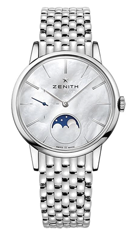 Zenith Elite Lady Moonphase Automatic White Mother of Pearl Dial Ladies Watch