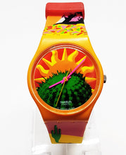Load image into Gallery viewer, 1993 TEQUILA GO102 Swatch Watch | Vintage Hippie Watch - Vintage Radar