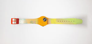 1993 TEQUILA GO102 Swatch Watch | Vintage Hippie Watch - Vintage Radar