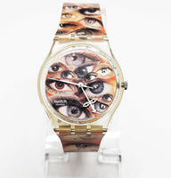 1998 EYE EYE AIE GK411 Swatch | Unusual Swatch Watch Vintage - Vintage Radar