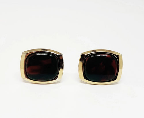 Gold-tone Classic Vintage Set of Cufflinks | Wedding Collection - Vintage Radar