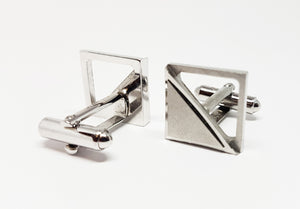 Geometric Vintage Set of Cufflinks | Wedding Collection - Vintage Radar