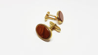 Victorian Vintage Set of Cufflinks and Tie Clip | Wedding Collection - Vintage Radar