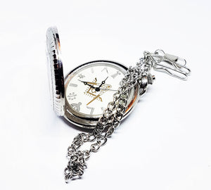 G Silver-tone Vintage Pocket Watch | Can Be Engraved - Vintage Radar