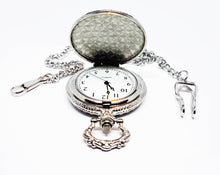 Load image into Gallery viewer, Minimalist Silver-tone Vintage Pocket Watch | Can Be Engraved - Vintage Radar