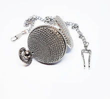 Load image into Gallery viewer, Textured Silver-tone Vintage Pocket Watch | Can Be Engraved - Vintage Radar