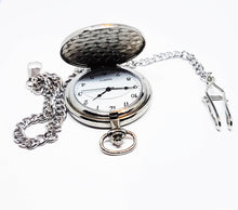 Load image into Gallery viewer, Turquoise and Silver Pocket Watch | Can Be Engraved - Vintage Radar
