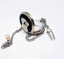 Load image into Gallery viewer, Dog Silver Pocket Watch | Can Be Engraved - Vintage Radar