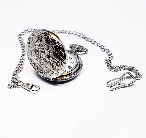 Vintage Train Pocket Watch | Can Be Engraved - Vintage Radar