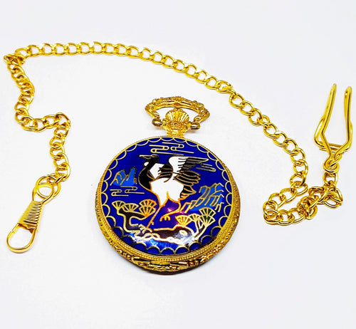 Art Nouveau Bird Pocket Watch | Can Be Engraved - Vintage Radar