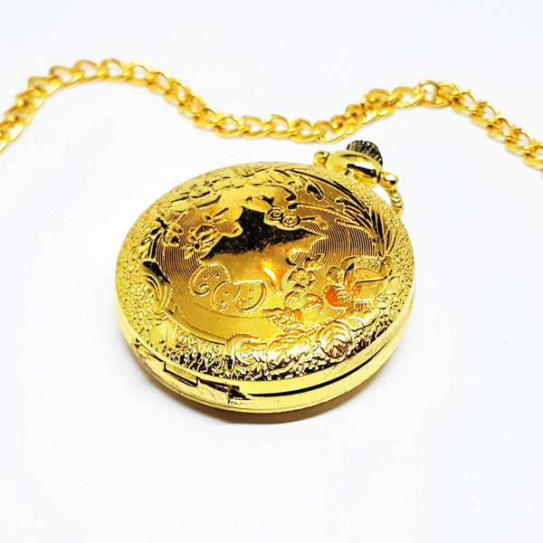 Bohemian Gold-tone Pocket Watch | Can Be Engraved - Vintage Radar