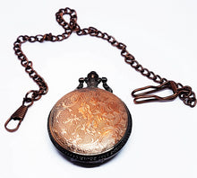 Load image into Gallery viewer, Rose Gold Ship Vintage Pocket Watch | Can Be Engraved - Vintage Radar