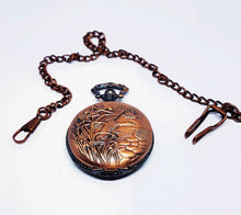 Load image into Gallery viewer, Rose Gold Vintage Pocket Watch | Swans by the Lake | Can Be Engraved - Vintage Radar