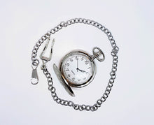 Load image into Gallery viewer, Bohemian Silver-tone Vintage Pocket Watch | Can Be Engraved - Vintage Radar