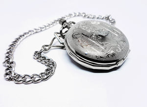 Bohemian Silver-tone Vintage Pocket Watch | Can Be Engraved - Vintage Radar